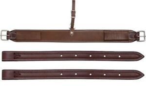 Western-Brown-Leather-36-034-x-3-0-034-Wide-Flank-Cinch-and-Billets-Set