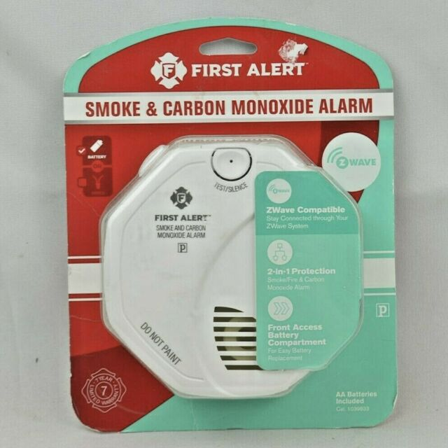 First Alert Smoke Detector and Carbon Monoxide Detector Alarm | Z-Wave 1039833