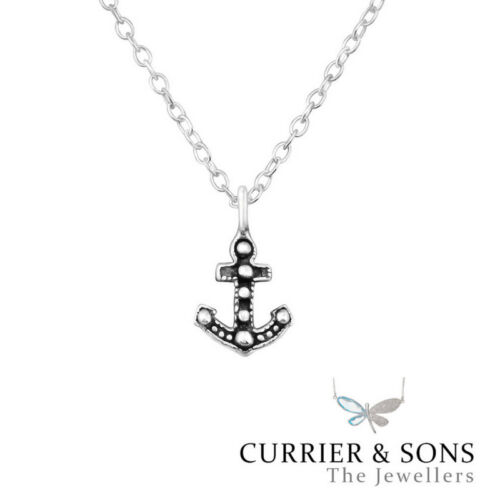 45cm // 18 inch 925 Sterling Silver Anchor Pendant Necklace Design 5