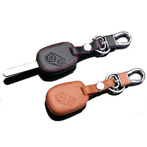 leather car key cover case  honda accord crv fit civic odyssey city  buttons ebay