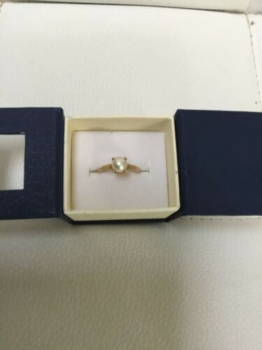Vintage 10k gold and pearl - image 1