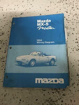 1994 Mazda Miata MX-5 MX5 Electrical Wiring Diagram ...
