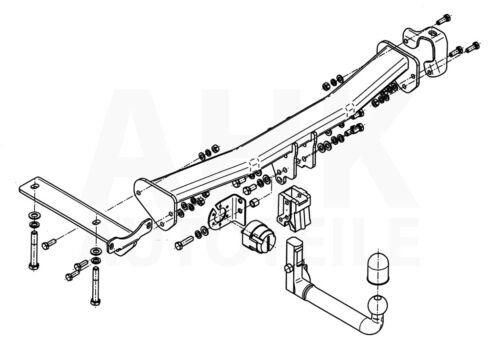 Für Land Rover Freelander II LF 07-14 Anhängerkupplung abn.+ES 13p uni AHK