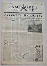 Jamborée France 6 - 21 Aout 1947 ; Journal N° 5 du 10 Août  Scouts P JOUBERT