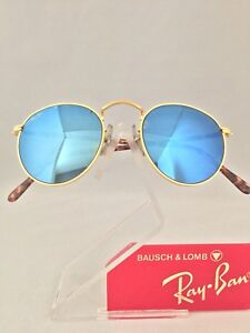 Sunglasses 47mm Lomb Gold Details Mirror Ban And Round About Blue Vintage Usa Ray Bausch tQrxdCsh