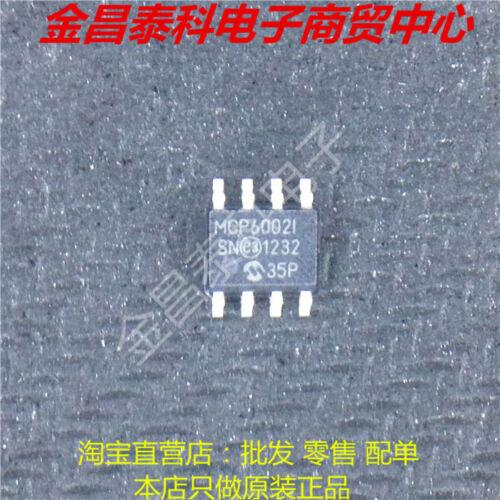 10pcs MCP6002I MCP6002T-I//SN 1 MHz Low-Power Op Amp