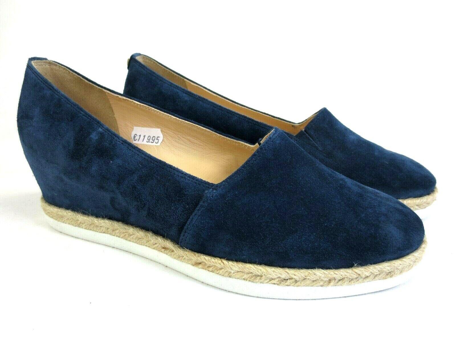 Högl talons Pantoufles Chaussures en cuir bleu Espadrilles Nouveau Prix Recommandé 119,95