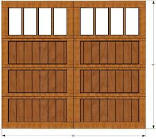 Wood Garage Door Overhead  8'x8' AmanaDoors Model 103W8