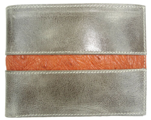LIMITED 1 OF 4  RFID SHIELD HANDMADE CALFSKIN LEATHER WALLET BIFOLD OSTRICH Gift