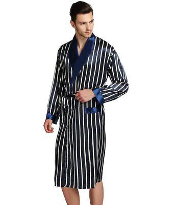 Mens Silk Satin Long  Robe  Robes  Bathrobe  Nightgown  Pajamas/_/_For XMAS  Gift