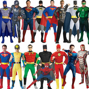 Image is loading Adult-Mens-Muscle-Chest-Padded-Superhero-Fancy-Dress-  sc 1 st  eBay & Adult Mens Muscle Chest Padded Superhero Fancy Dress New Costume ...