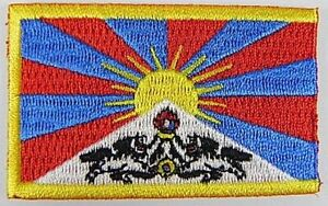 Tibet-Aufnaeher-gestickt-Flagge-Fahne-Patch-Aufbuegler-6-5cm-neu