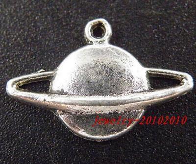 "20 Tibetan Silver ""Moon"" Pendants Charms 21x14x2.5mm"