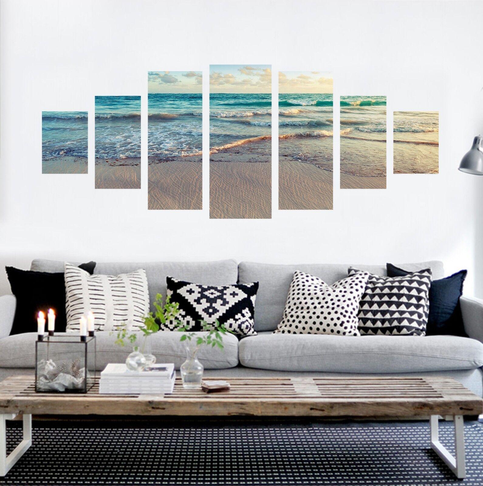 3D natural Beach Wave 6 sin enmarcar Impresión Papel de Parojo Calcomanía Decoración De Parojo Parojo Interior AJ