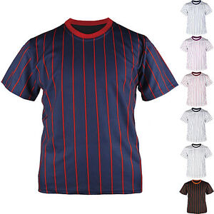 new product fe295 4ab46 Details about KH2008 Mens Baseball Team T shirts Jersey Blank Striped  Custom Tee Pinstripe Top