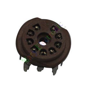 20pc-9pin-PCB-Bakelite-Vacuum-tube-sockets-value-For-12AX7-6P1-6N1-6N3-audio-amp