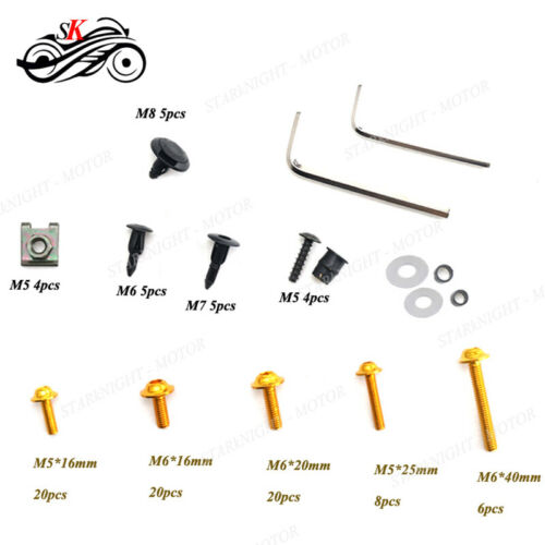 CNC  Fairing Bolt Kit body screws Clips For Yamaha YZF R6 08 09 10 11 12 13 SK
