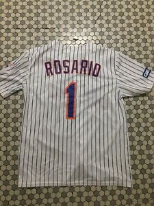 official photos fc6a6 c9cd2 Details about 2019 NY Mets #1 Jersey SGA Amed Rosario Replica Shirt XL New  York