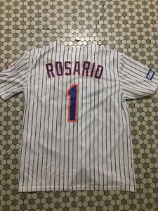 official photos 06bc6 a0dbd Details about 2019 NY Mets #1 Jersey SGA Amed Rosario Replica Shirt XL New  York