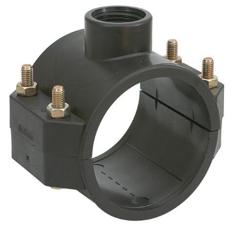 PP Single BSP Outlet MDPE Pipe Saddle  Polypropylene 20mm To 315mm