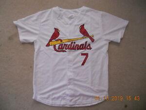 best service a45ac 31f55 Details about St Louis Cardinals Baseball Jersey #7 Matt Holliday Home Whit  SGA Button Up C@@L
