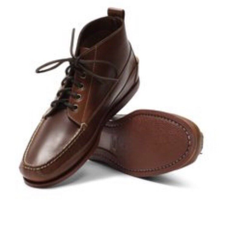 GH Bass Moc Rangers Ankle Boots In Mid Brown. Size
