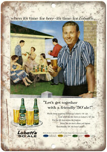Metal Sign Old Labatt/'s Ale Vintage Look Reproduction