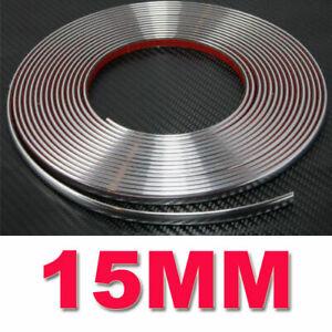 auto chrom zierleisten zierleiste selbstklebend silber 15mm universal ebay