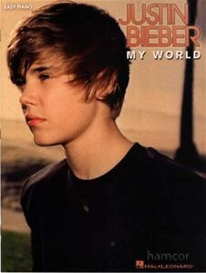 Discipliné Justin Bieber My World Easy Piano Music Book-afficher Le Titre D'origine Pour Aider à DigéRer Les Aliments Gras