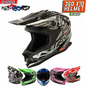 S-XL Motocross Pieno Volto ATV Motociclo Corsa Fuoristrada Casco+Occhiali+Guanti