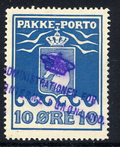 GREENLAND-1905-Parcel-Post-10-re-used