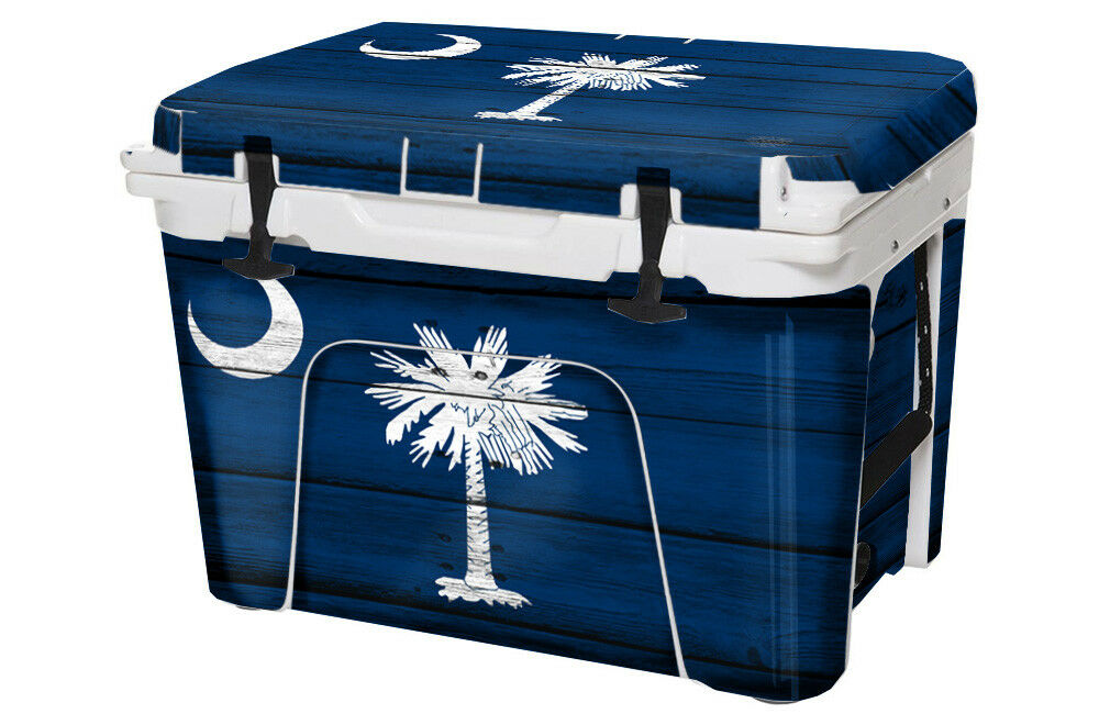 USATuff Cooler Decal Wrap fits YETI Tundra 45qt FULL South Carolina Flag WD