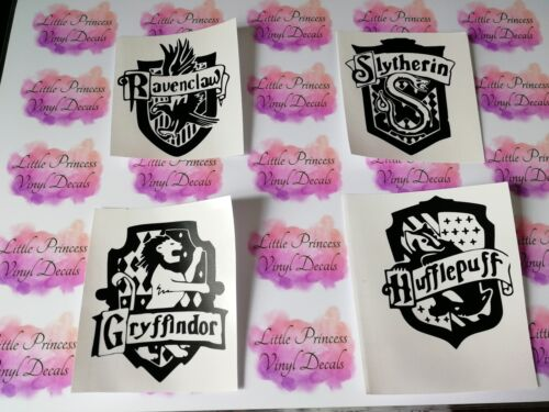 crafts etc Harry Potter Houses x4 vinyl decals walls For wine glasses