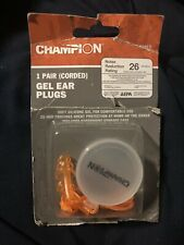 1 Pair Champion Gel Corded Ear Plugs With Case Nr 26 Decibels