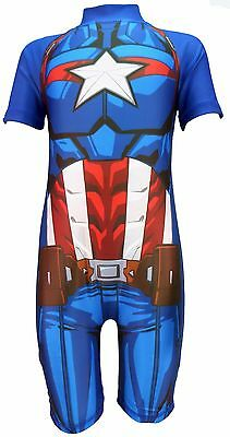 Captain America SwimsuitMarvel Avengers Swimming Costume Sunsafe 20/%OFF!!!!