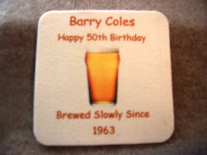 Details about PERSONALISED BEER MAT*S  18th*21st*30th*40th*50th*60th*70th*80th*85th*Birthday