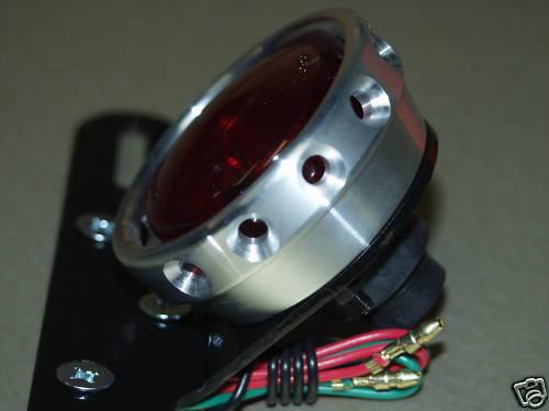 HARLEY TRIUMPH XS650 BOBBER CHOPPER TAIL LIGHT DRILLED ALUMINUM ALLOY STD BULB