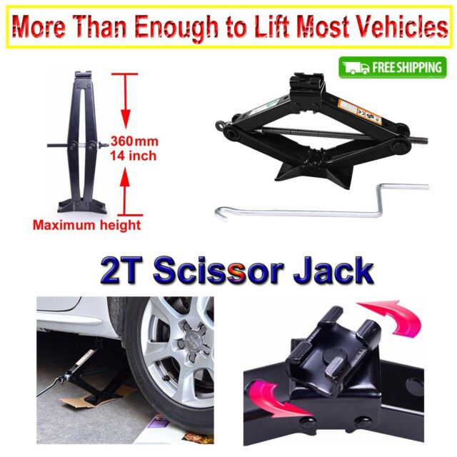 2 Ton Scissor Jack Lift Up For Car Emergency High Quality Speed