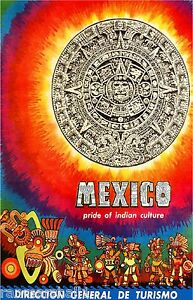 Mexico-Pride-of-Indian-Culture-Mexican-Vintage-Travel-Advertisement-Art-Poster
