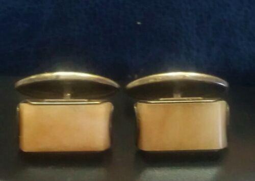 Cornelian Cufflinks Real cornelian Russian Soviet Silver 875 Gold Plated  Swivel bar type Russian gem
