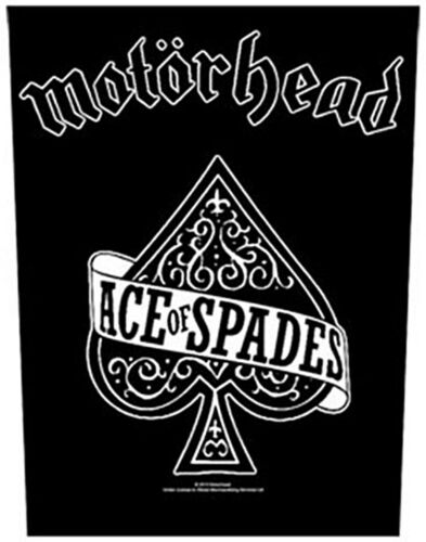rz Motorhead Ace Of Spades giant sew-on backpatch  340mm x 290mm