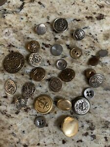 Lot of Vintage Metal Buttons Eagle Military