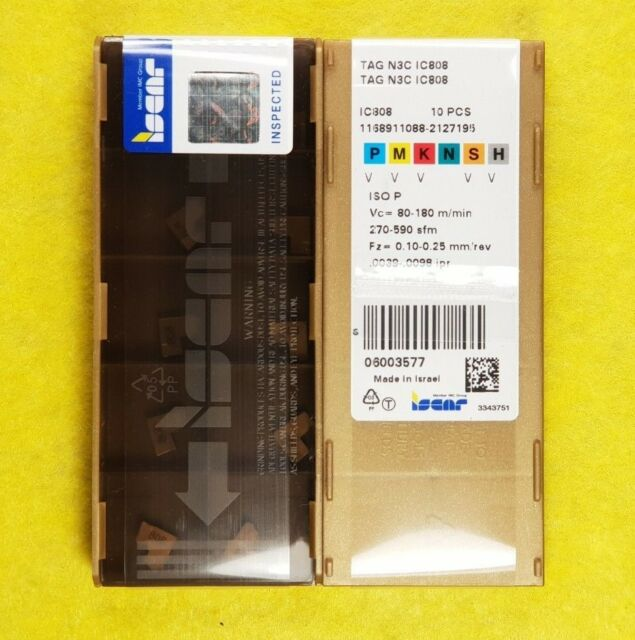Factory packaging ! 1 Box 10 Pcs Iscar TAG N3C IC808