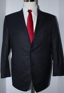 Giorgio-Armani-Black-Label-3-Button-Gray-Striped-Super-150s-Wool-Suit-42-S-36-27