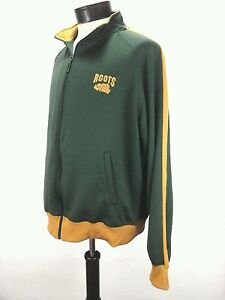Clothing, Shoes & Accessories Roots 73 Atletics Women's Canada Full Zipper Track Jacket Green Gold Xlarge Euc Products Are Sold Without Limitations