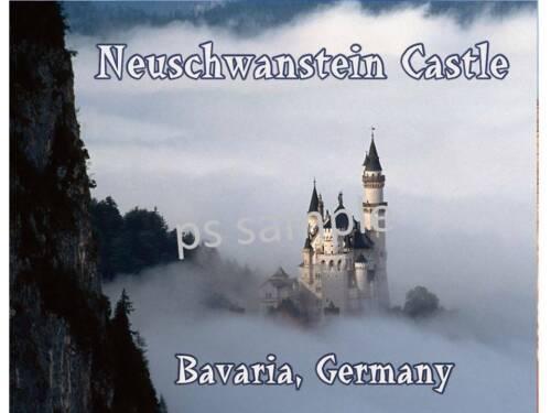 NEUSCHWANSTEIN Fantasy Castle BAVARIA GERMANY Flexible Fridge Magnet