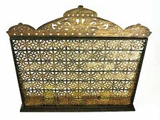 """FIREPLACE SCREENS - """"MARRAKESH"""" FIREPLACE SCREEN WITH REMOVABLE HURRICANE GLOBES"""