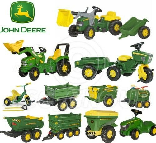 Rolly Toys - John Deere Pedal Tractores Trailers Cargadora Cisterna Trike