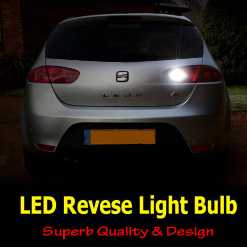 Seat Leon MK2 2005-2012 Cool White LED Reverse Light Bulb Canbus Upgrade *SALE*