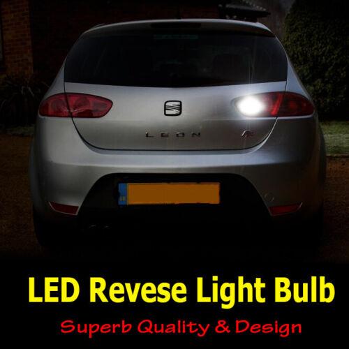 Seat Leon MK2 2005-2012 Cool White LED Reverse Light Bulb Canbus Upgrade *SALE*